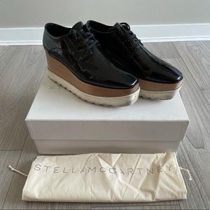 Stella McCartney Black Elyse Derbys - size 39.5